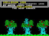Spellbound ZX Spectrum Exploring the Roof Garden.