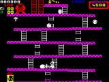 Donkey Kong ZX Spectrum Use the hammer to smash the barrels that are thrown at you.