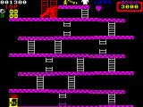 Donkey Kong ZX Spectrum Reach the top and you have rescued the girl.