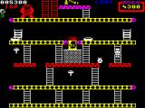 Donkey Kong ZX Spectrum The levels get more complex as the game progresses.