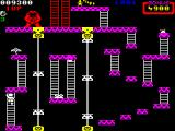 Donkey Kong ZX Spectrum Use the ladders to climb further up.