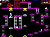Donkey Kong ZX Spectrum These platforms continually scroll down so good timing is needed to cross.