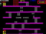 Donkey Kong ZX Spectrum The game loops round the same levels and continues until you run out of lives.