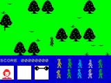 Friday the 13th ZX Spectrum You start off the game in the woods.