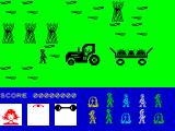 Friday the 13th ZX Spectrum In a cornfield complete with tractor.