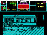 NARC ZX Spectrum Using the rocket launcher results in a shower of body parts.