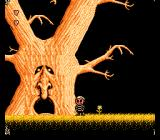 The Addams Family: Pugsley's Scavenger Hunt NES Big tree