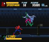 The Amazing Spider-Man: Lethal Foes SNES Hey Doc Connor, you're looking a little... no, no I won't take one that easy.