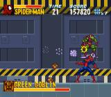 The Amazing Spider-Man: Lethal Foes SNES Osborn tosses bombs as well as tackling Spider-Man.