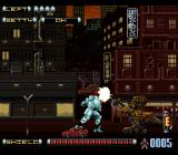 Genocide 2 SNES Slicing up a construction mecha.