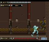 Genocide 2 SNES Beating up more construction mecha.