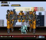Genocide 2 SNES The first boss has all sorts of nasty weapons.