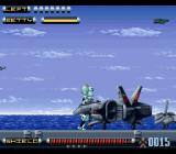 Genocide 2 SNES Hitching a ride from an aircraft carrier the direct way.