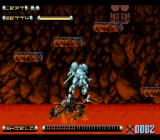 Genocide 2 SNES Taking a ride on a surprisingly resilient platform.