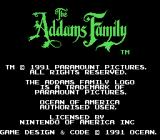 The Addams Family NES Title screen
