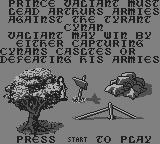 Kingdom Crusade Game Boy Instructions
