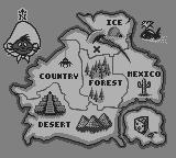 Speedy Gonzales Game Boy The map shows the different worlds