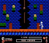 The Addams Family NES Carefully climbing down...