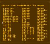 Pool of Radiance NES Creating your own characters