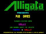 Pub Games ZX Spectrum First game screen. Names must be entered. After the first five characters are entered you must wait for the game to accept them before it allows you to enter the second name.