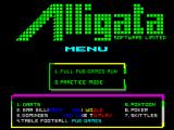 Pub Games ZX Spectrum If practice mode is selected then you get to choose a game from this menu