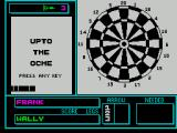 Pub Games ZX Spectrum Darts : The game screen before the any play has taken place. Top of screen shows how many darts remain to be thrown, bottom centre shows the score of each dart