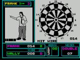 Pub Games ZX Spectrum Darts : Going for the winning shot and I've hit the wire! How close is that