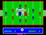 Pub Games ZX Spectrum Table Football : This is what a goal looks like. Notice the players names have changed