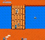 Commando NES Battle on a bridge