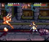 Gourmet Sentai: Bara Yarou SNES Catching fire will force any character to run wildly, potentially touching other characters and setting them on fire too.