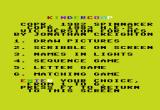 KinderComp VIC-20 Title and main menu