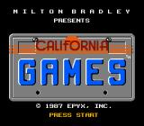 California Games NES Title screen