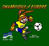 Champions of Europe SEGA Master System Title screen