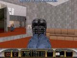Duke Nukem 3D DOS In the original release, it was possible to use both the normal foot weapon (right foot) and the Mighty Foot (left foot) at the same time, even while moving, giving a rather unnatural visual result.