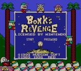 Bonk's Revenge Game Boy Title screen (Super Game Boy)