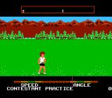 California Games NES Disc throwing