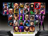 Mortal Kombat Trilogy DOS Fighter Select Screen