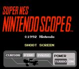 Super NES Super Scope 6 SNES Title screen (European version)