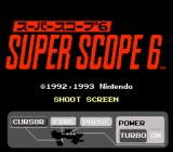 Super NES Super Scope 6 SNES Title screen (Japanese version)