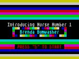 Mad Nurse ZX Spectrum Nurse 1 : You get three tries each try with a different nurse. All nurses have humorous names.