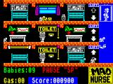 Mad Nurse ZX Spectrum If you don't stop them the babies will fall down the lift shaft, drink from the toilet and find other fatal activities