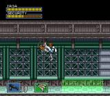 Hyper Iria SNES The security system is no match for Iria's kicks.