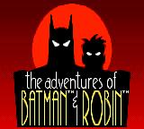 The Adventures of Batman & Robin Game Gear Title screen