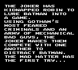 The Adventures of Batman & Robin Game Gear The story