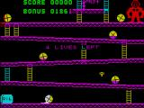 Kong ZX Spectrum Get it wrong and you get squashed. See the damsel in distress crying 'Help'! She's safer than I am!!