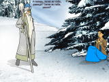 Fairy Tale about Father Frost, Ivan and Nastya Windows Nastya is met by Father Frost (in Russian)