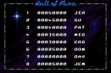 Super Dropzone: Intergalactic Rescue Mission Game Boy Advance Hall of Fame (high scores)
