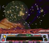 Super Dropzone: Intergalactic Rescue Mission SNES When you die, there's quite a huge mess