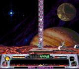 Super Dropzone: Intergalactic Rescue Mission SNES All rescued men are beamed up