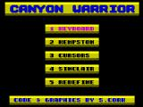 Canyon Warrior ZX Spectrum Title page